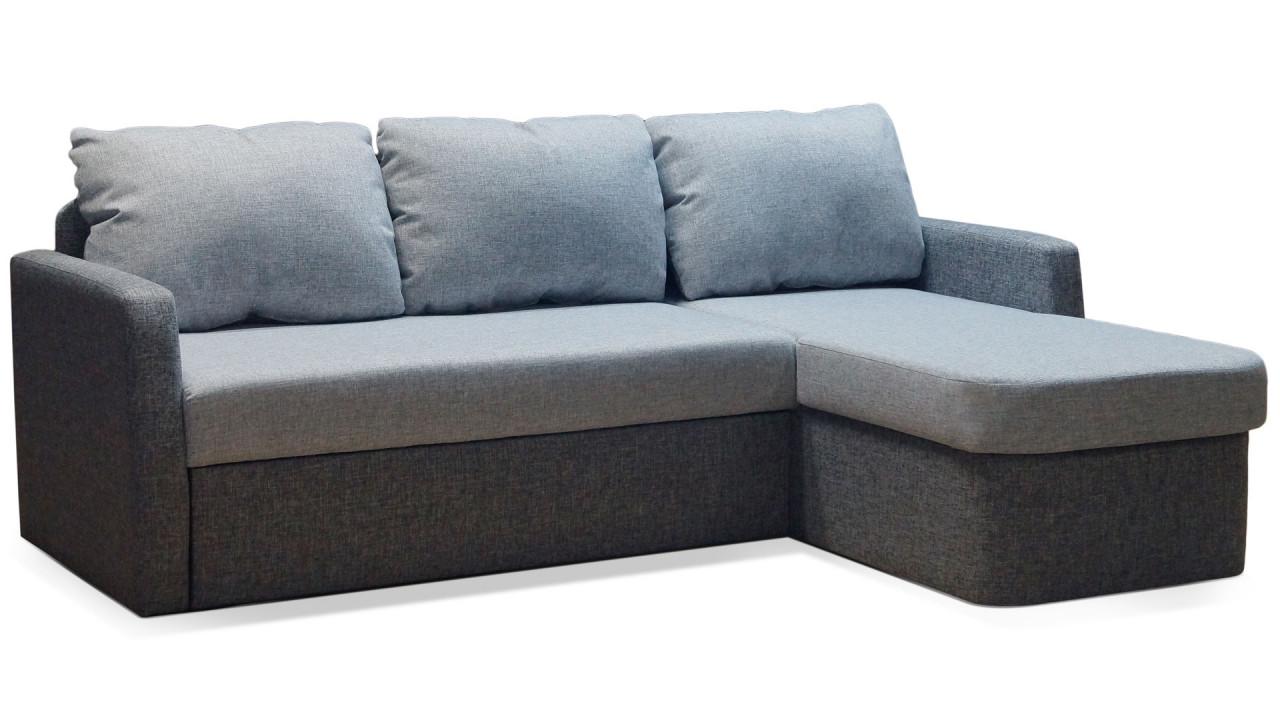 Угловой диван ШИК 411 серый