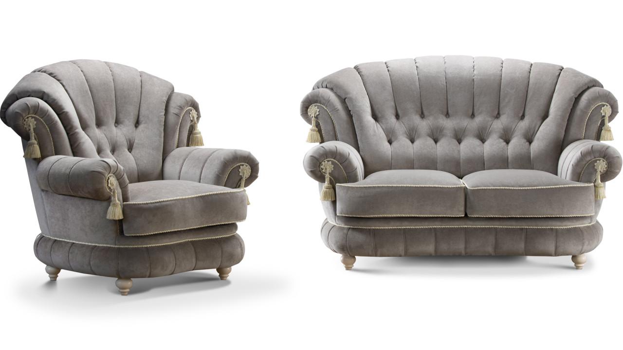 ШИК 701  светло-серый (03 с креслом 04)
