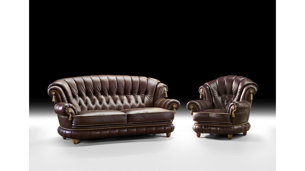 ШИК 701 темно коричневый (03 с креслом 04)
