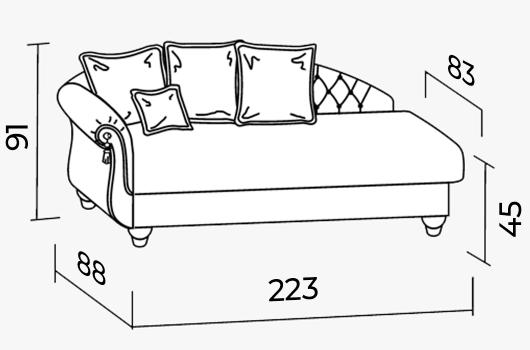 Размеры -ШИК 132  Niagara