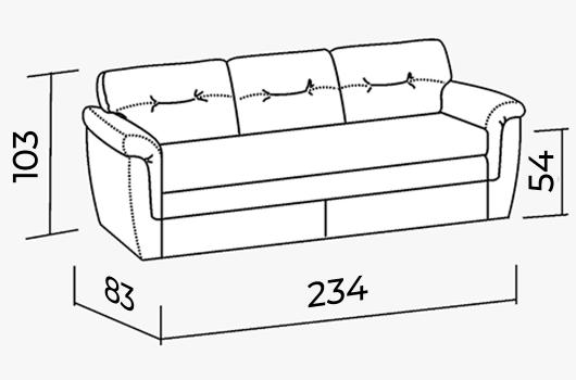 Размеры - ШИК 217 бежевый