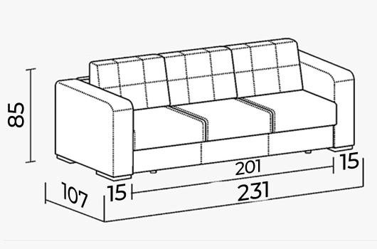 Размеры -ШИК 244-01 серый