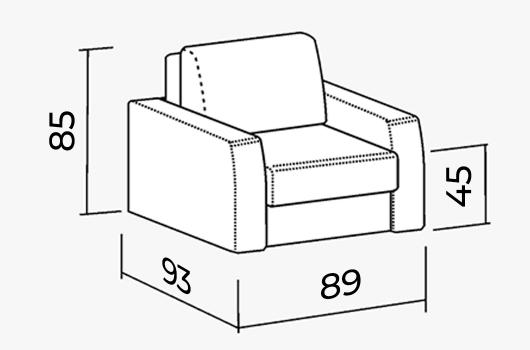 Размеры -  ШИК 245 кресло orion