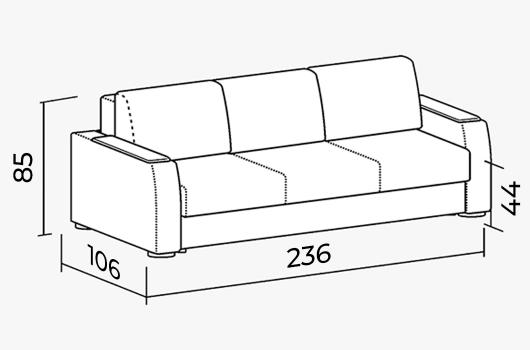 Размера -  ШИК 245 кресло orion
