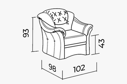 Размеры -  Кресло ШИК 430