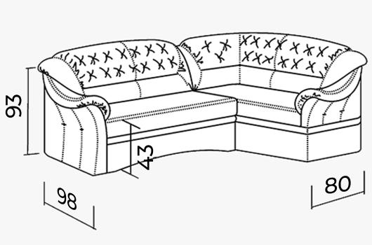 Размера -  Кресло ШИК 430