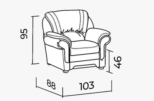 Размеры - Кресло ШИК 601s cream