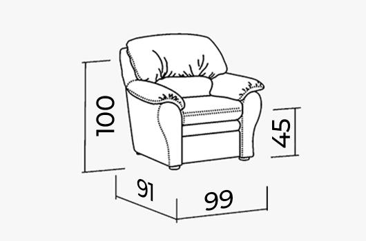 Размеры -ШИК 610L коричневый