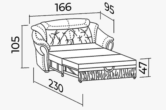 Размеры - ШИК 640 белый