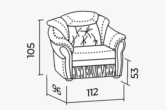 Размеры - ШИК 640к белый велюр