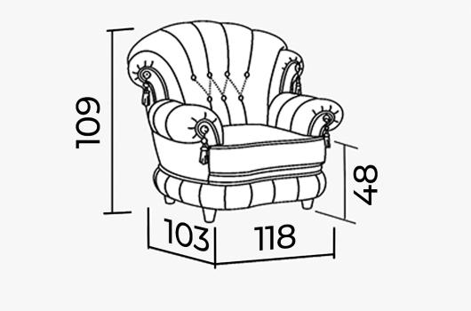 Размера - ШИК 701  светло-серый (03 с креслом 04)