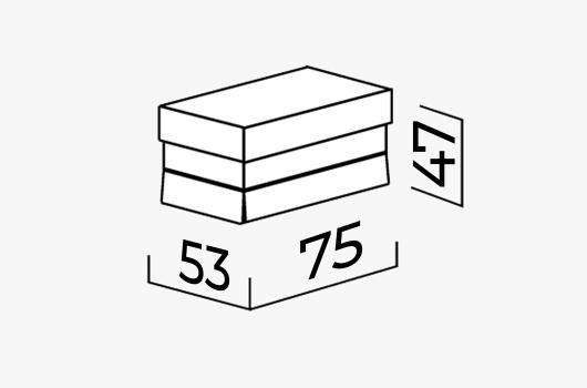 Размеры - Пуф ШИК 05