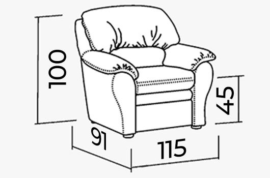 Размеры -ШИК 610 Кресло-кровать